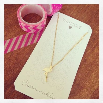 40% OFF Flamingo Necklace (gold plated)